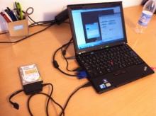 エクセルマクロ達人養成塾塾長ブログ-UD-500SAをX201sに接続した様子。